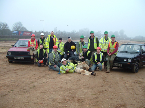 Some of the digging team at the Melton A63 site