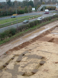 Square barrow at the Melton A63 site